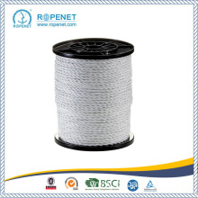 White Color Electric Fence 3 Strands Twisted Rope